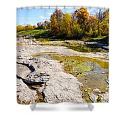 Devonian Fossil Gorge Coralville Lake Ia 1 Shower Curtain