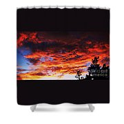 Devonshire Bay Sunset Shower Curtain