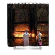 Devotion In Jerusalem Shower Curtain