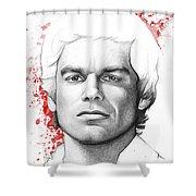 Dexter Morgan Shower Curtain by Olga Shvartsur