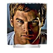 Dexter Portrait Shower Curtain