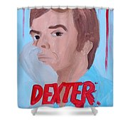 Dexter With Hand Shower Curtain