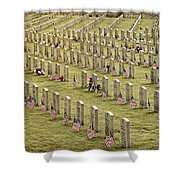 Dfw National Cemetery II Shower Curtain