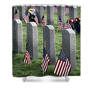 Dfw National Cemetery Shower Curtain