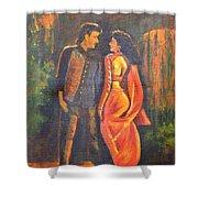 Dhak Dhak Shower Curtain