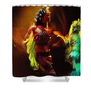 Diabolic. Passionate Dance Of The Night Angels Shower Curtain by Jenny Rainbow
