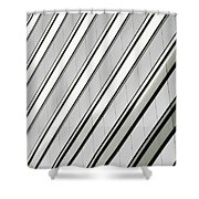 Diagonal Lines Of A Chicago Building Shower Curtain