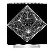 Diamond Crystal  Shower Curtain