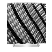 Diamond Fence Shower Curtain