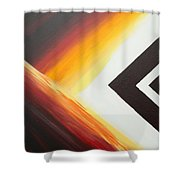 Diamond Fire 1 Shower Curtain