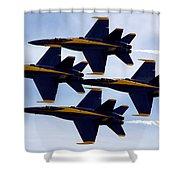 Diamond Formation Shower Curtain