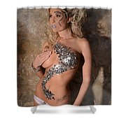 Diamond Girl Shower Curtain