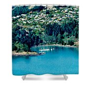 Diamond Harbour Shower Curtain