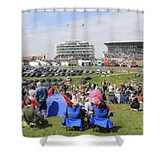 Diamond Jubilee Weekend At The Derby Horse Race On Epsom Downs  Shower Curtain