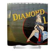 Diamond Lil B-24 Bomber Shower Curtain