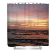 Diamond Shoals Sunset - Outer Banks Nc Shower Curtain