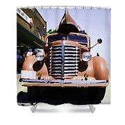 Diamond T Truck - Sahara Shower Curtain