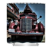 Diamond T Vintage Truck Art Shower Curtain