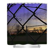 Diamonds In The Sky Shower Curtain