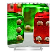 Dice - Boxcars Shower Curtain