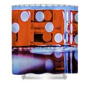 Dice Reflections Shower Curtain