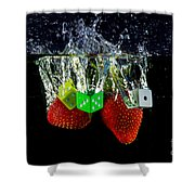 Dice Splash Shower Curtain by Rene Triay Photography