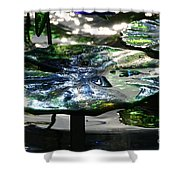 Dichromic Lily Pad Shower Curtain