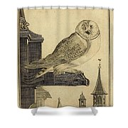 Die Schleyer Eule Shower Curtain
