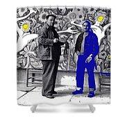 Diego Rivera Ted Degrazia  Mexico City Mexico Circa 1942-2013 Shower Curtain