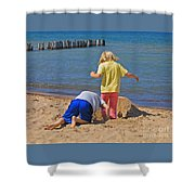 Digging Deep Shower Curtain