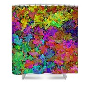 Digiral Abstract Colors Rich Shower Curtain