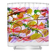 Digital Abstract 3 Shower Curtain