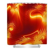 Digital Abstract Cello Music Shower Curtain by Peter R Nicholls