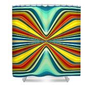 Digital Art Pattern 8 Shower Curtain by Amy Vangsgard