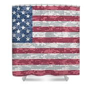 Digital Camo Us Flag Shower Curtain
