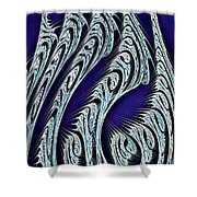 Digital Carvings Shower Curtain