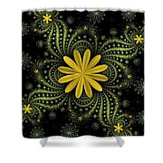 Digital Flowers Shower Curtain