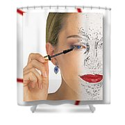 Abstract Make Up Shower Curtain