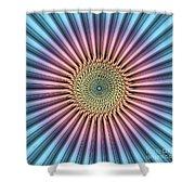 Digital Mandala Flower Shower Curtain