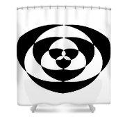 Digital Mono 1 Shower Curtain
