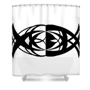 Digital Mono 13 Shower Curtain