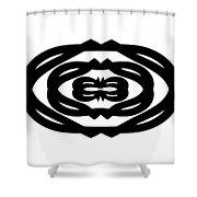 Digital Mono 14 Shower Curtain