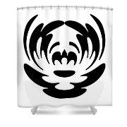 Digital Mono 15 The Clown Shower Curtain