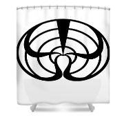 Digital Mono 2 Shower Curtain