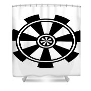 Digital Mono 4 Shower Curtain
