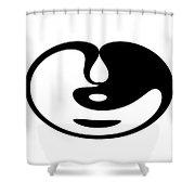 Digital Mono 5 Shower Curtain