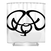 Digital Mono 9 Shower Curtain