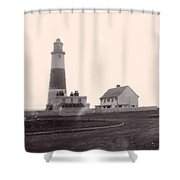 Digital Painting Lighthouse Shower Curtain