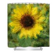 Digital Painting Series Sunflower Shower Curtain