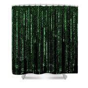 Digital Rain Shower Curtain